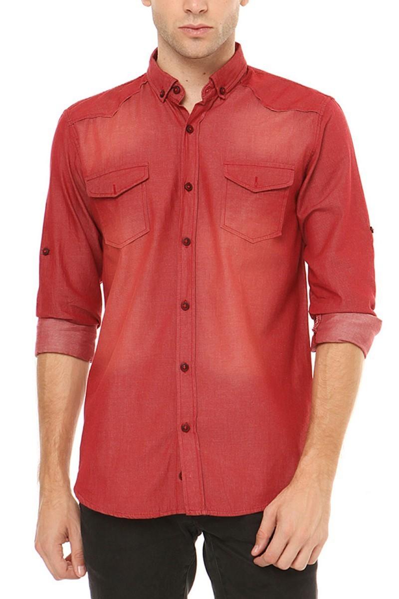 Let's Go Jeans Bordo 14Y6206-B Erkek Gömlek