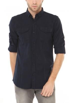 Let's Go Jeans Lacivert 14k6241-L Erkek Gömlek