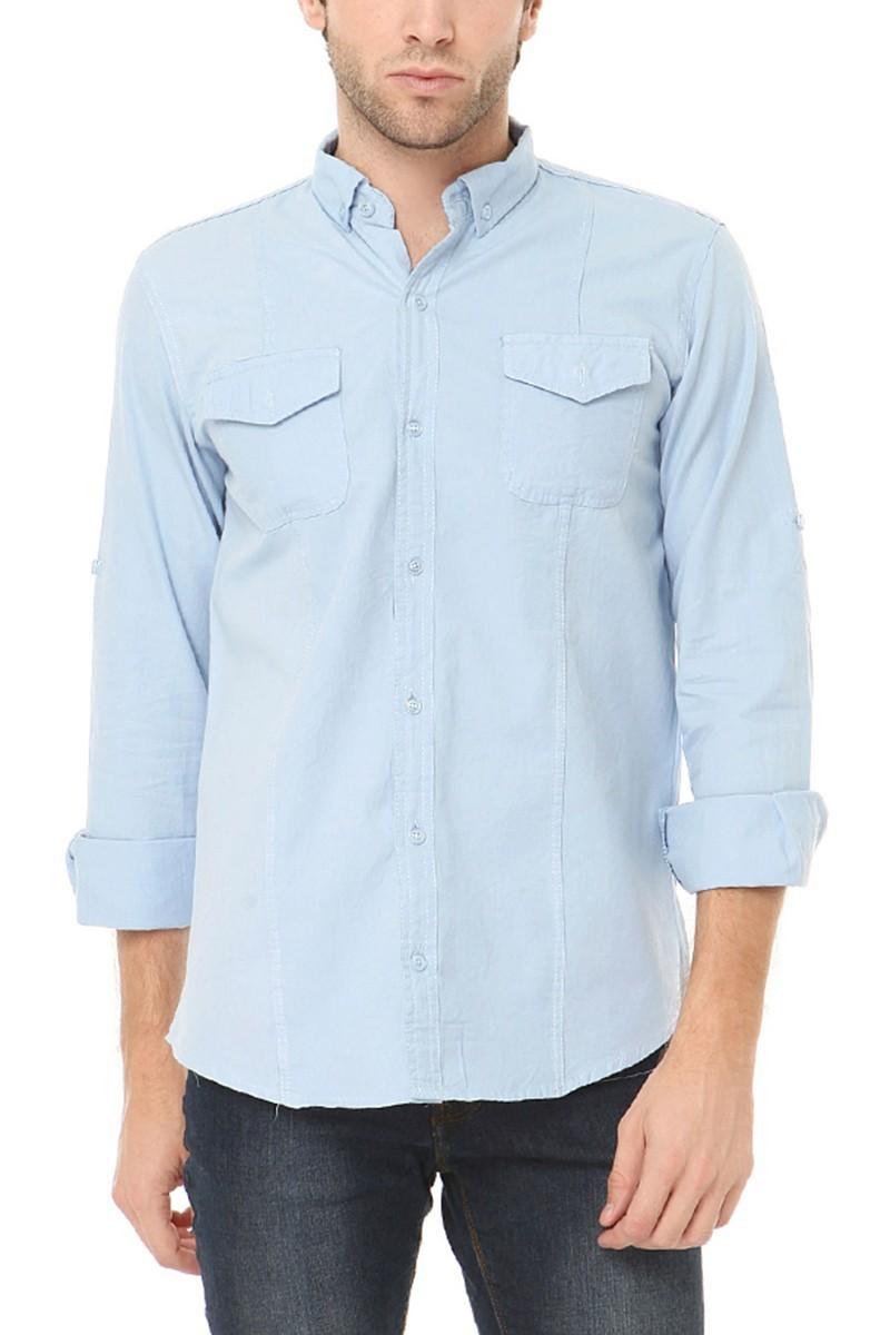 Let's Go Jeans Mavi 14k6241-M Erkek Gömlek