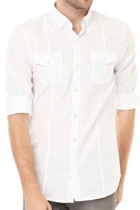 Let's Go Jeans Beyaz 14k6241 Erkek Gömlek