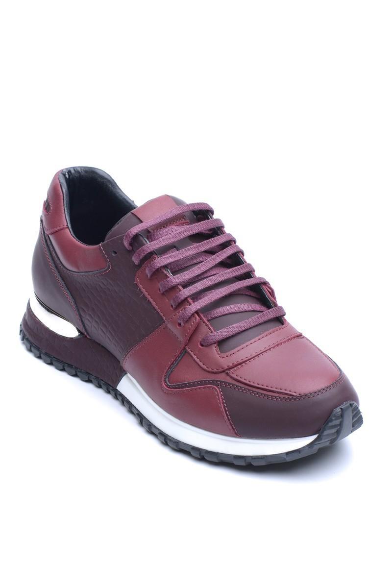 Chaos Bordo TS-21102 Hakiki Deri Erkek Ayakkabı