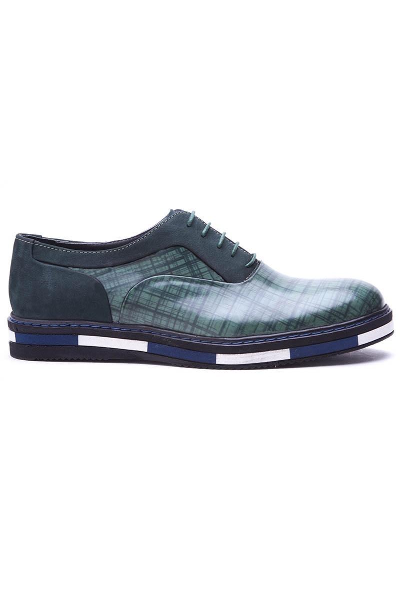 BLUESOIL Yeşil BS-20-37 Hakiki Deri Erkek Ayakkabı