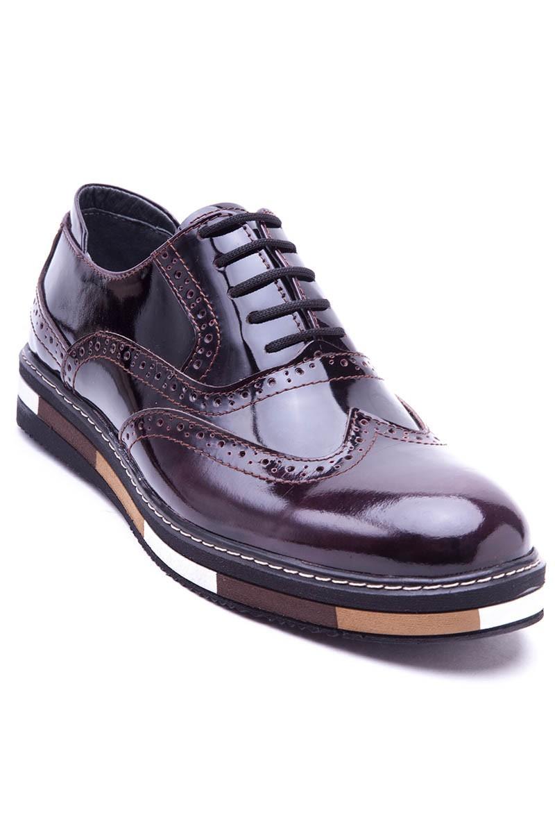 BLUESOIL Kahverengi BS-20-32 Hakiki Deri Erkek Ayakkabı