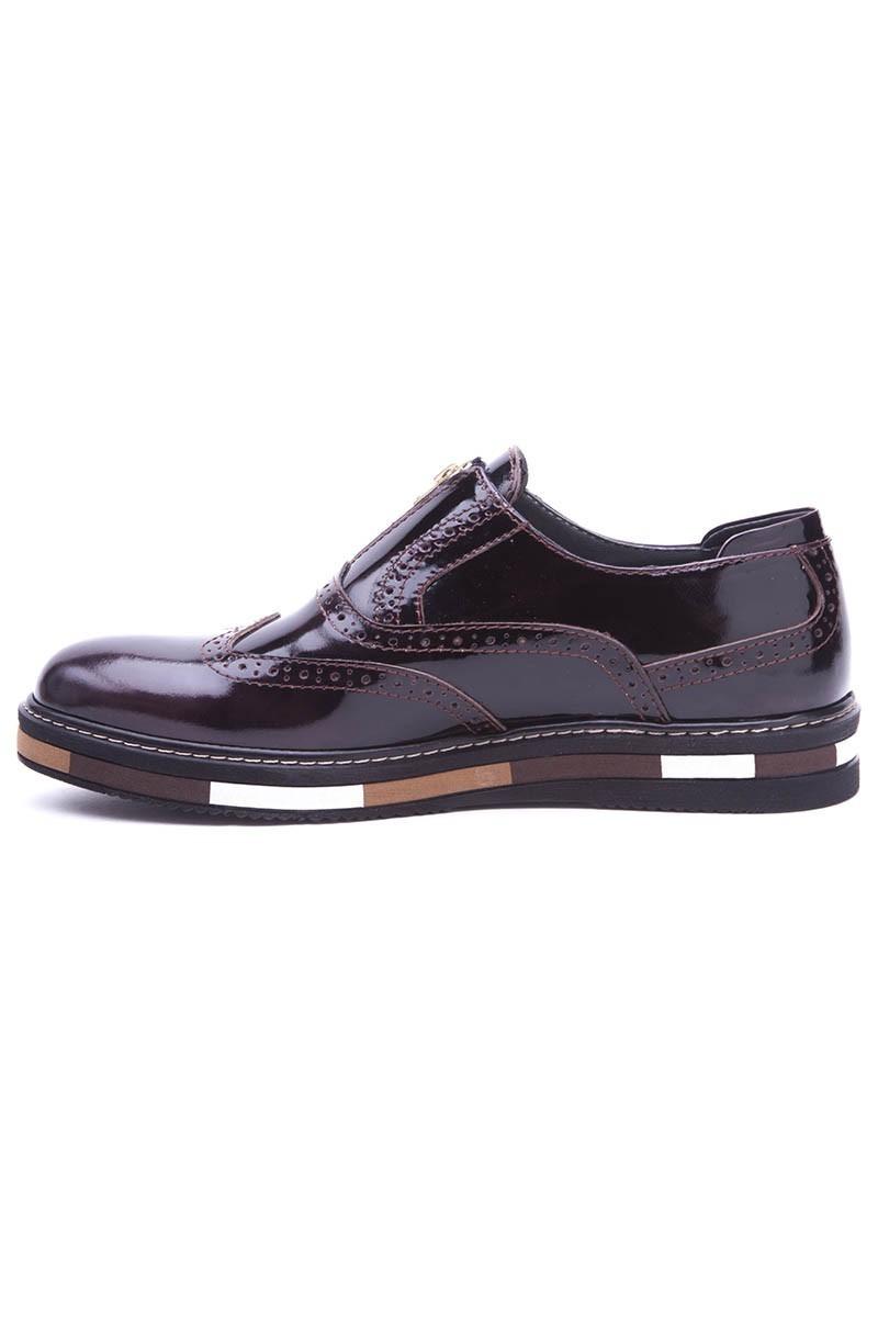 BLUESOIL Kahverengi BS-20-28 Hakiki Deri Erkek Ayakkabı