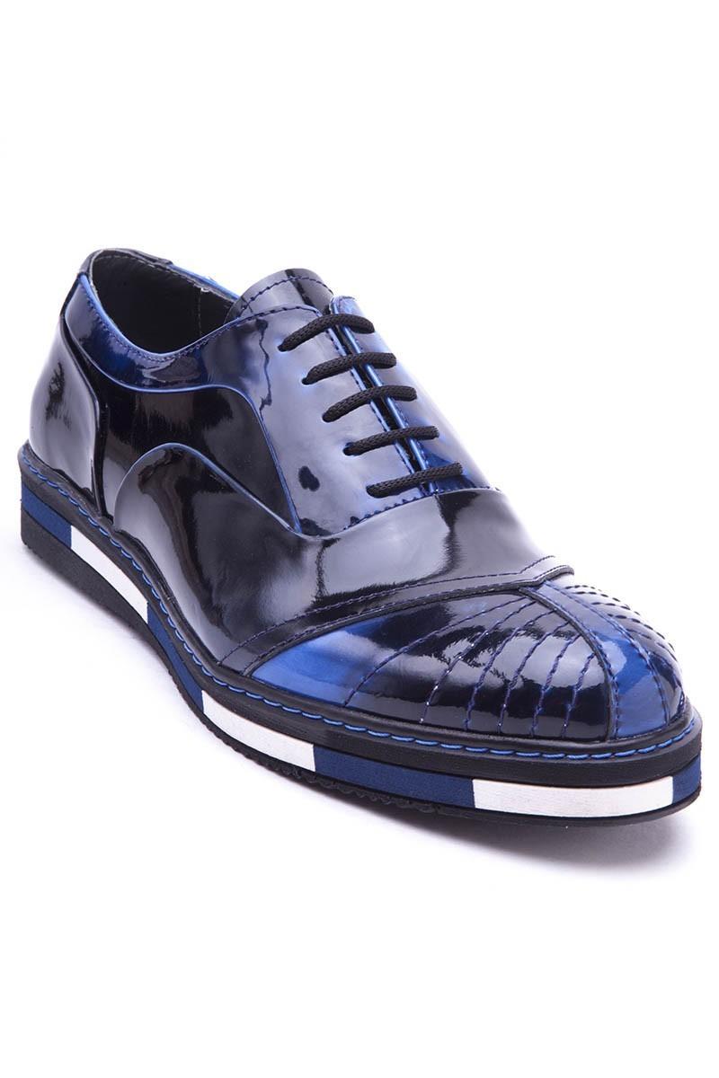 BLUESOIL Lacivert BS-20-27-ACMA Hakiki Deri Erkek Ayakkabı