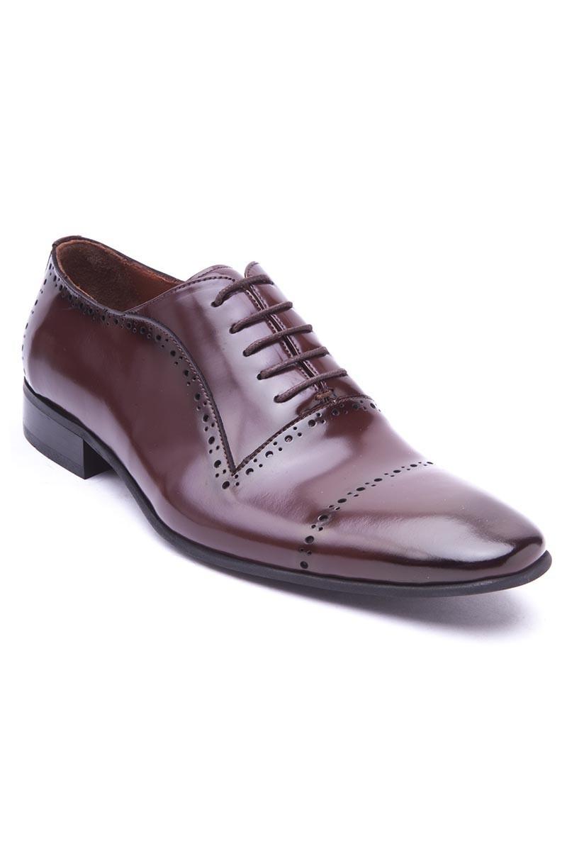 Wenetti Kahverengi WNT-121 Hakiki Deri Klasik Erkek Ayakkabı