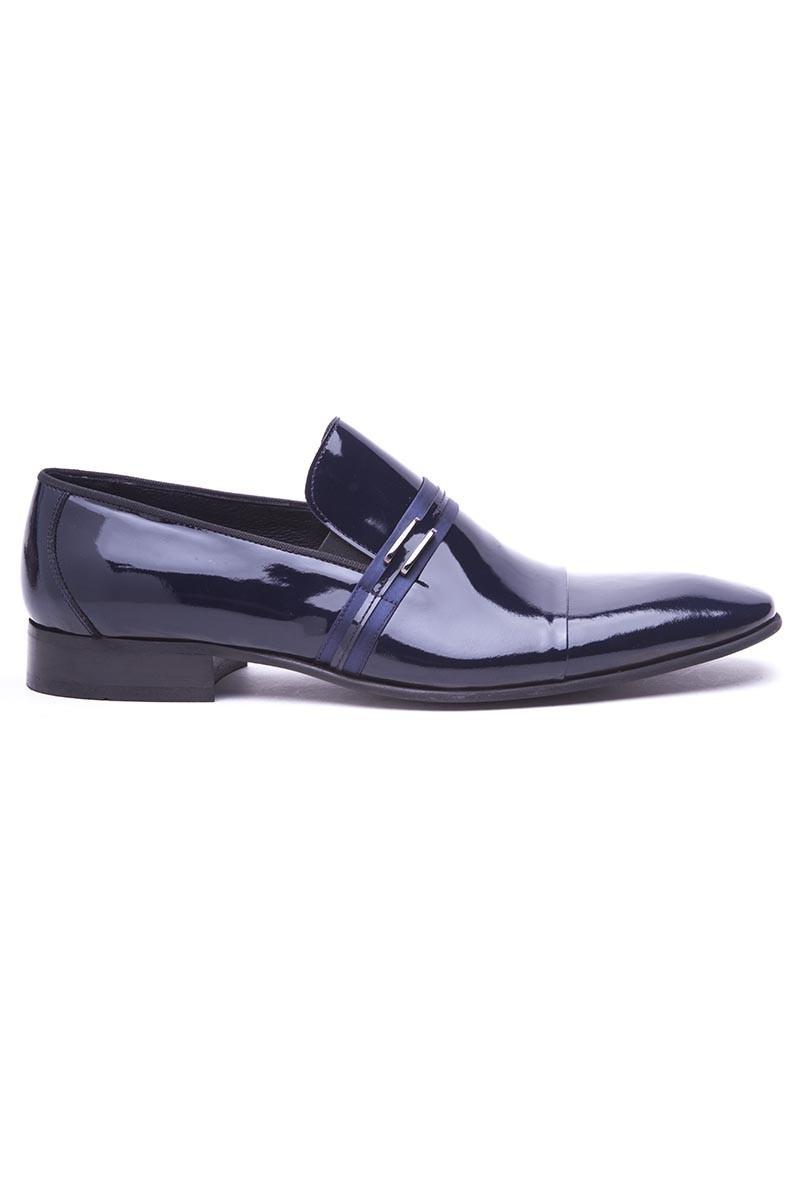 Wenetti Lacivert WNT-125 Hakiki Deri Klasik Erkek Ayakkabı