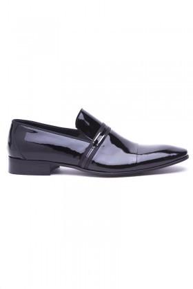 Wenetti Siyah WNT-125 Hakiki Deri Klasik Erkek Ayakkabı