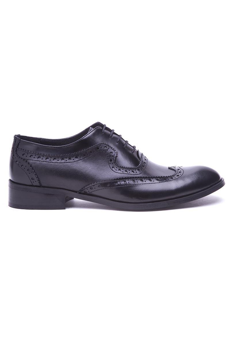 Wenetti Siyah WNT-127 Hakiki Deri Klasik Erkek Ayakkabı