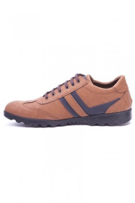 Polomen Taba-Lacivert PLM-2040 Erkek Ayakkabı