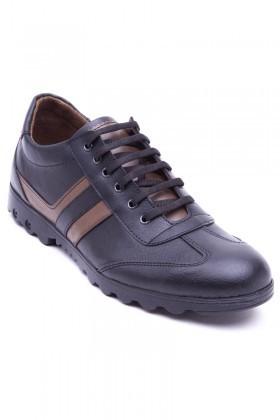 Polomen Siyah-Vizon PLM-2040 Erkek Ayakkabı