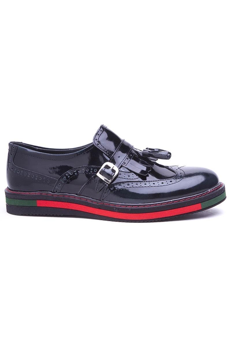 BLUESOIL Koyu Yeşil BS-20-34-ACMA Hakiki Deri Erkek Ayakkabı