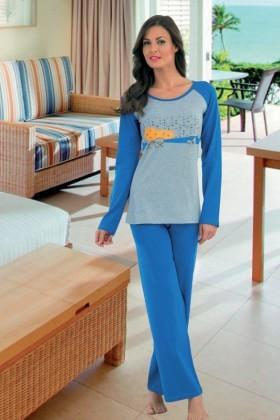 Polat Yıldız Mavi PY-3701 Bayan Pijama