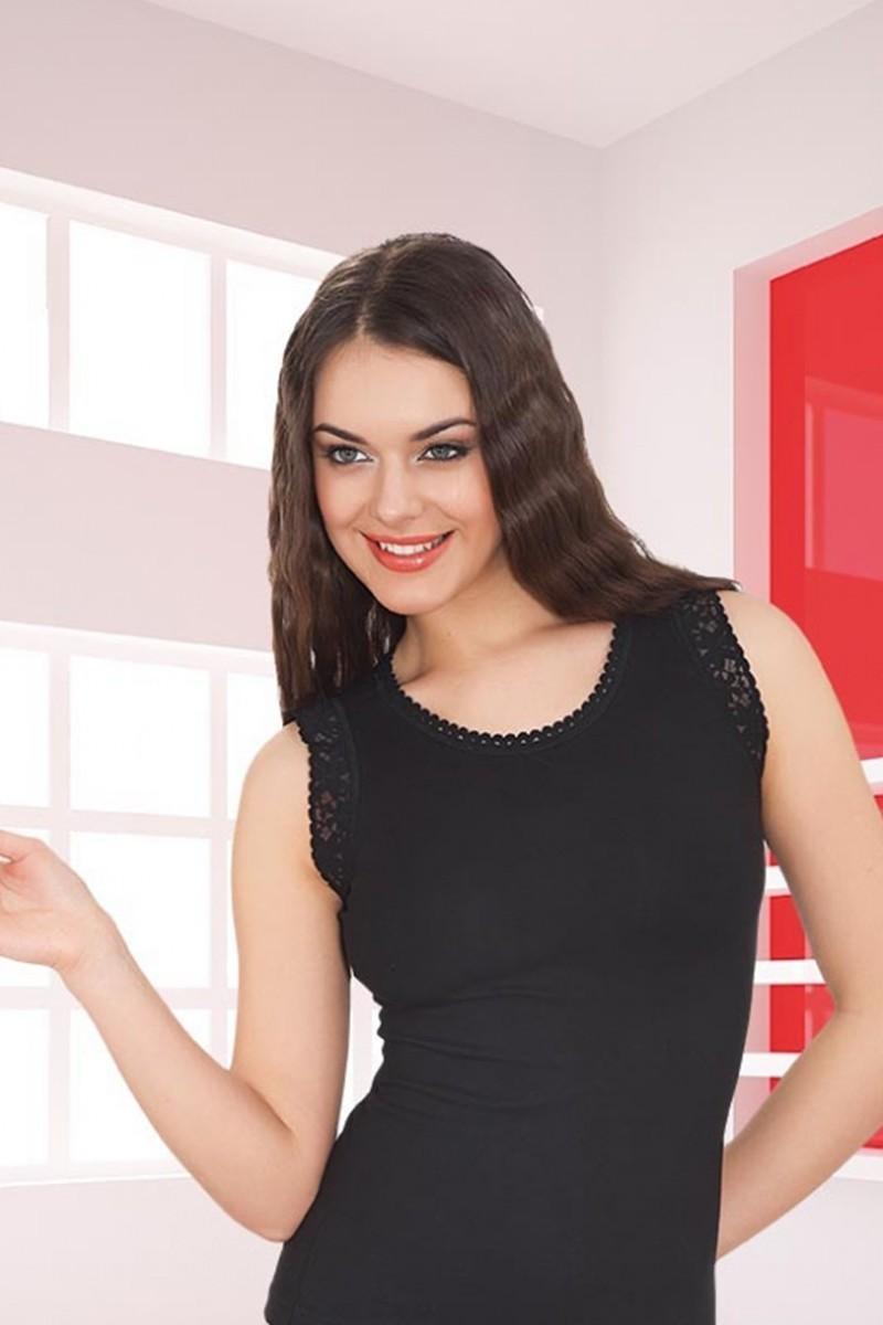 Polat Yıldız Siyah PY-0155 Bayan Atlet