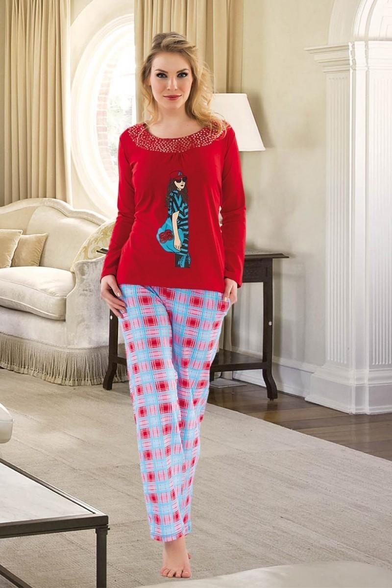 Polat Yıldız Siyah PY-3443 Bayan Pijama