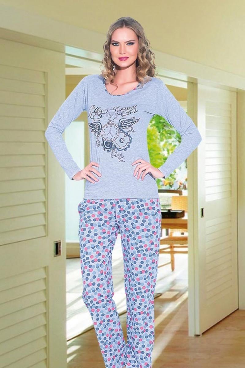 Polat Yıldız Gri PY-3505 Bayan Pijama