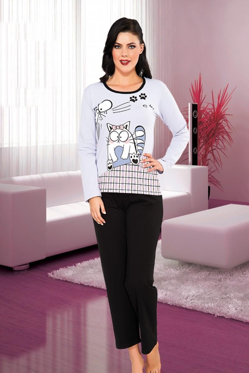 Polat Yıldız Siyah PY-4001 Bayan Pijama