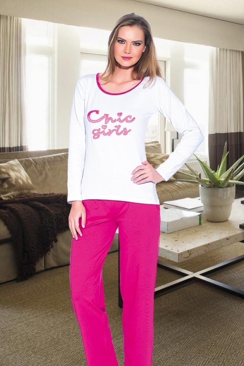 Polat Yıldız Karışık Renkli PY-3509 Bayan Pijama