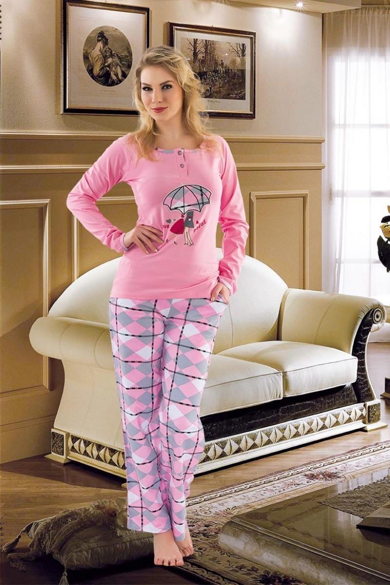 Polat Yıldız Karışık Renkli PY-3510 Bayan Pijama