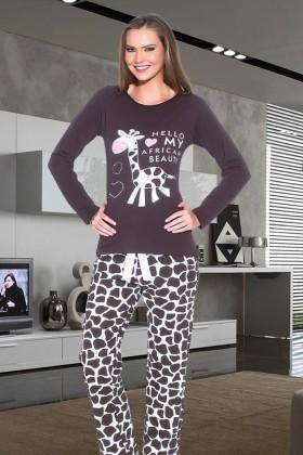 Polat Yıldız Siyah PY-3511 Bayan Pijama