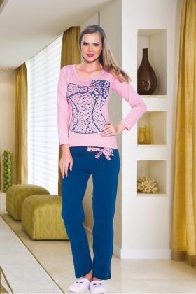 Polat Yıldız Karışık Renkli PY-3512 Bayan Pijama