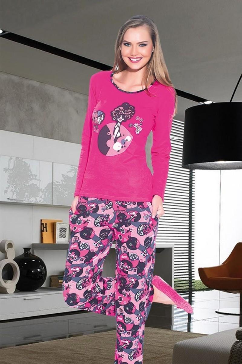 Polat Yıldız Pembe PY-3513 Bayan Pijama