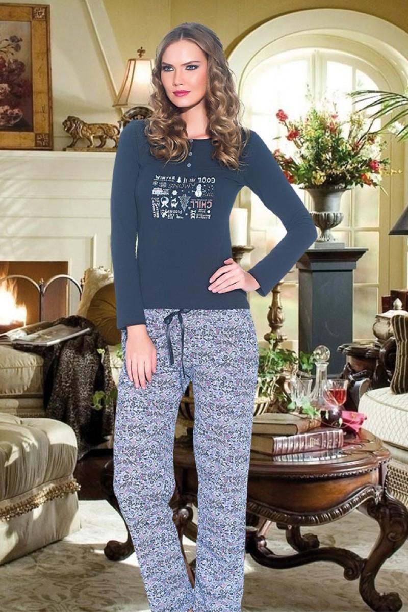 Polat Yıldız Lacivert PY-3519 Bayan Pijama
