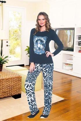 Polat Yıldız Lacivert PY-3522 Bayan Pijama