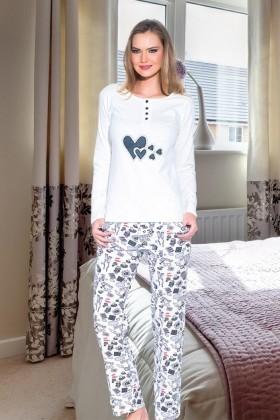 Polat Yıldız Beyaz PY-3524 Bayan Pijama