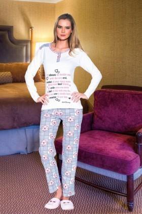 Polat Yıldız Karışık Renkli PY-3525 Bayan Pijama