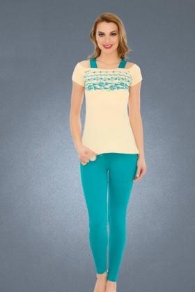 Polat Yıldız Karışık Renkli PY-3914 Bayan Pijama