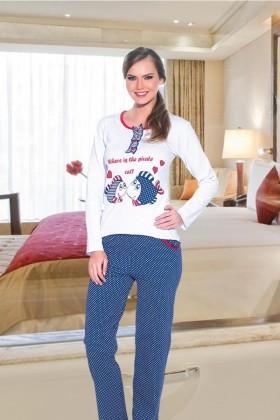 Polat Yıldız Karışık Renkli PY-3526 Bayan Pijama