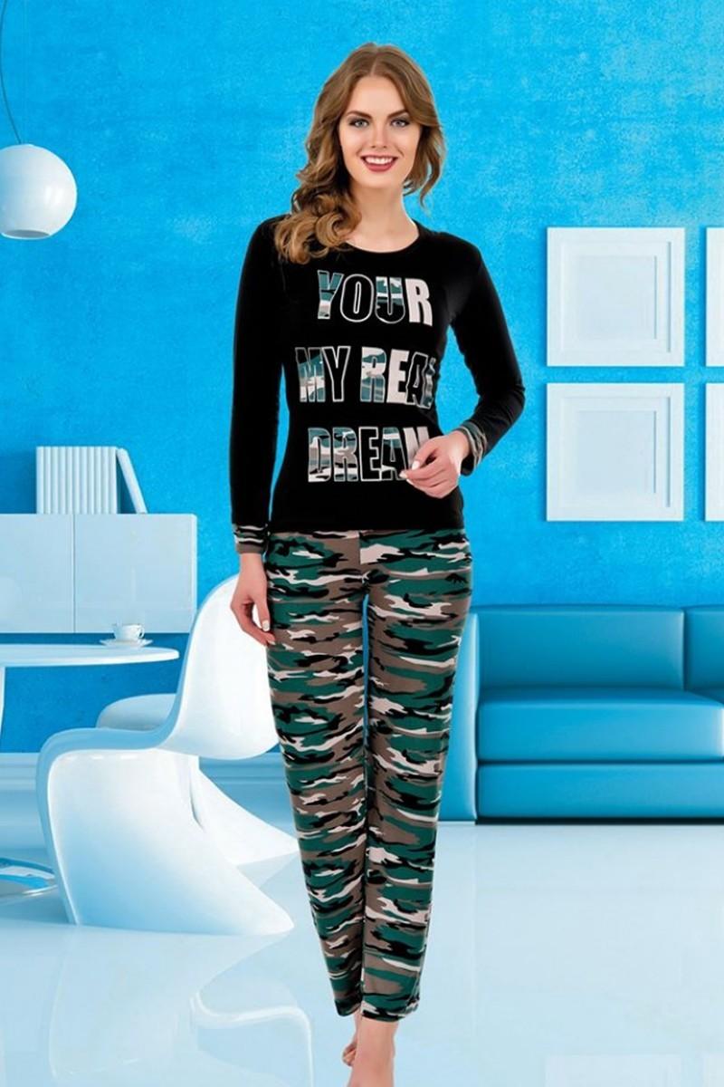 Polat Yıldız Siyah PY-3866 Bayan Pijama