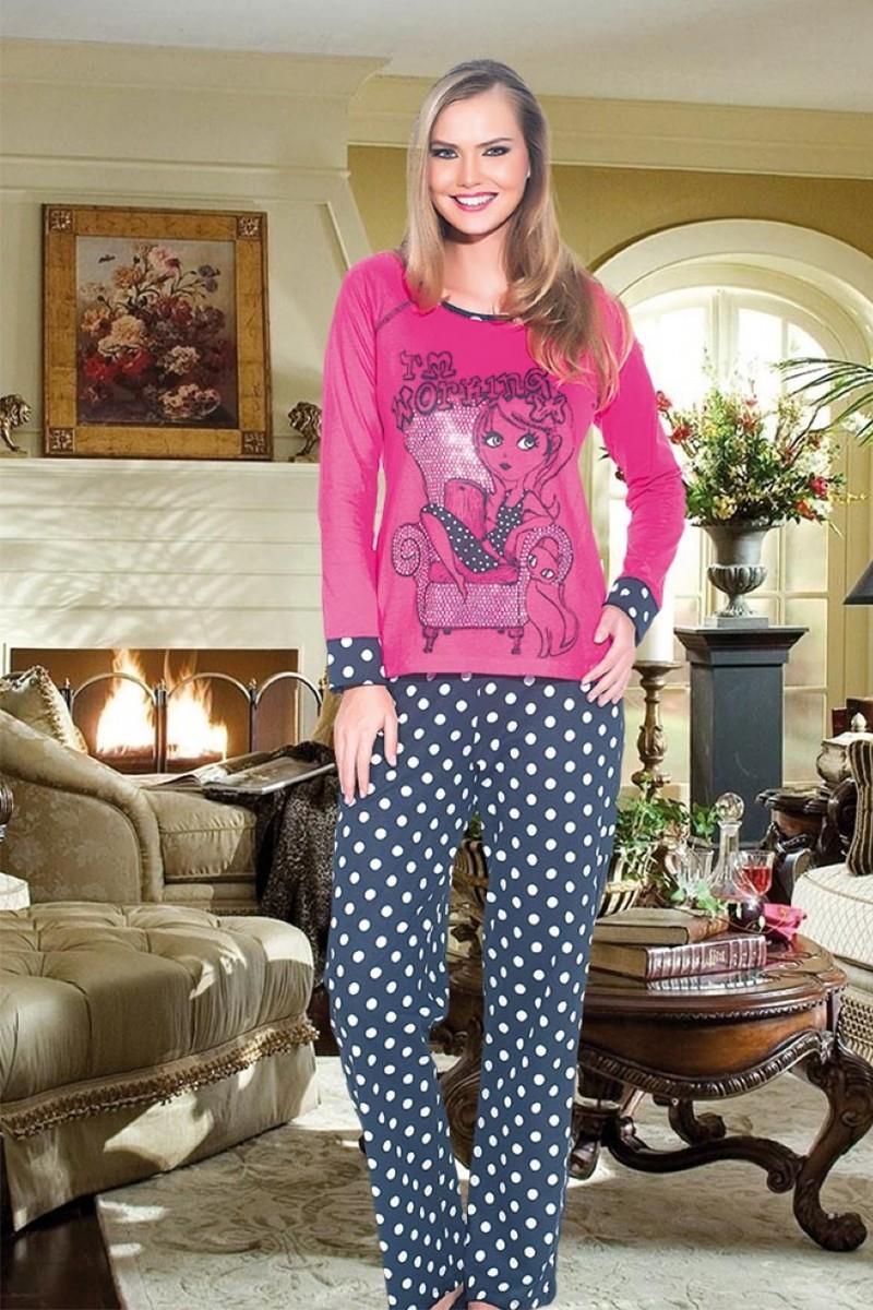 Polat Yıldız Karışık Renkli PY-3529 Bayan Pijama