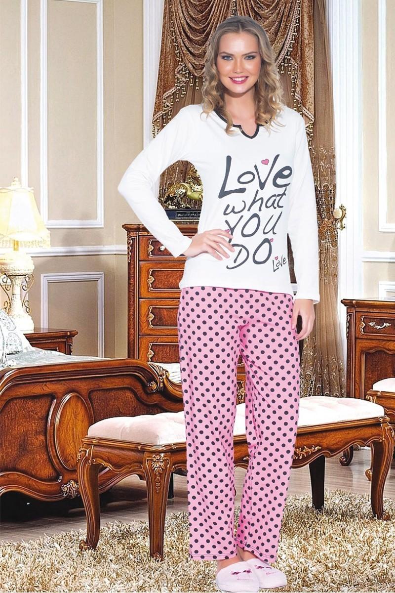 Polat Yıldız Karışık Renkli PY-3538 Bayan Pijama