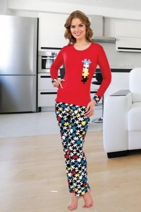 Polat Yıldız Karışık Renkli PY-3854 Bayan Pijama