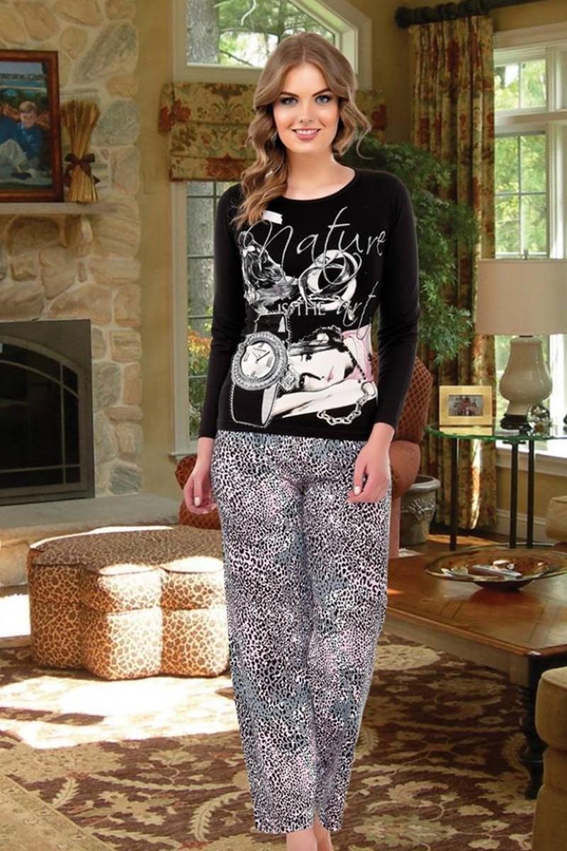 Polat Yıldız Siyah PY-3815 Bayan Pijama