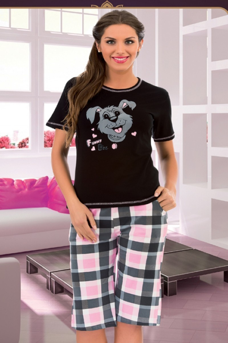 Polat Yıldız Siyah PY-3552 Bayan Pijama