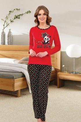 Polat Yıldız Kırmızı PY-3811 Bayan Pijama