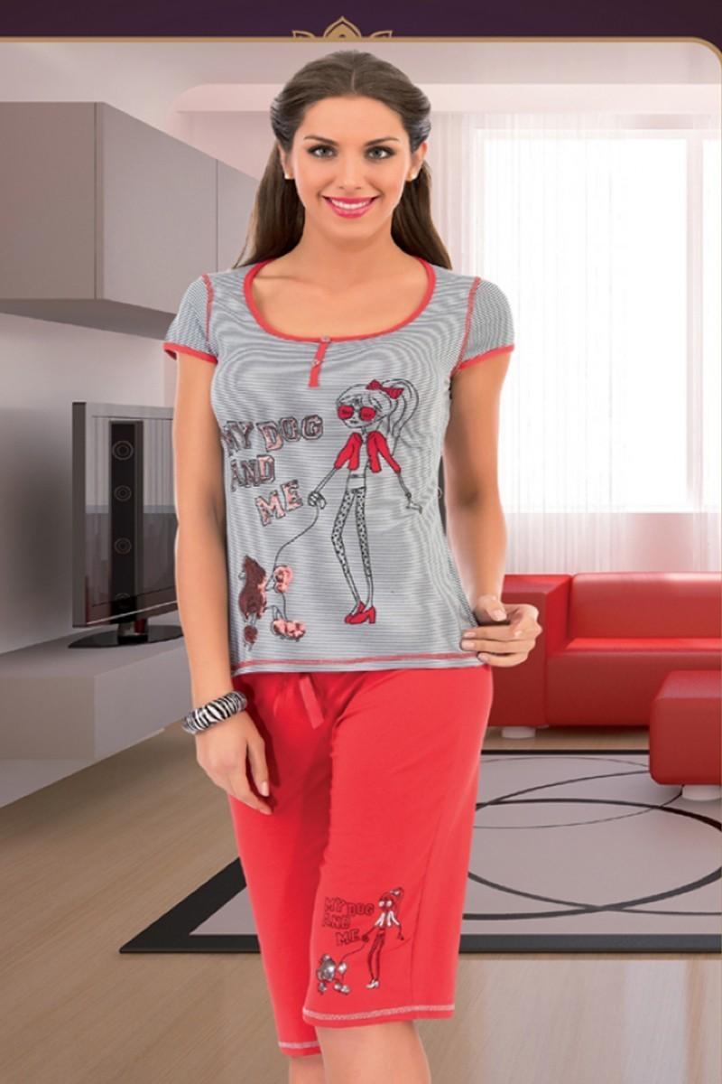 Polat Yıldız Karışık Renkli PY-3564 Bayan Pijama