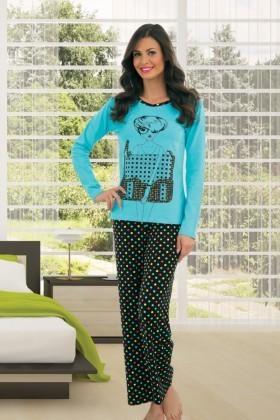Polat Yıldız Turkuaz PY-3705 Bayan Pijama