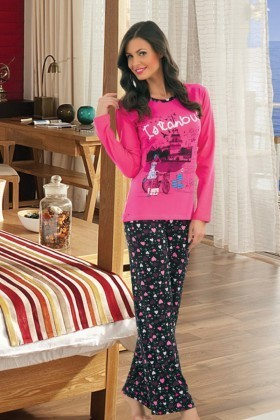 Polat Yıldız Pembe PY-3702 Bayan Pijama