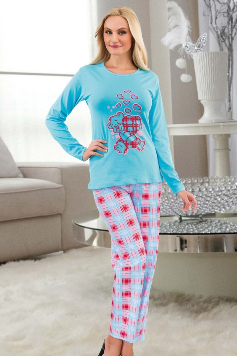 Polat Yıldız Turkuaz PY-3634 Bayan Pijama