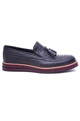 BLUESOIL Siyah BS-20-012-YILAN Erkek Ayakkabı