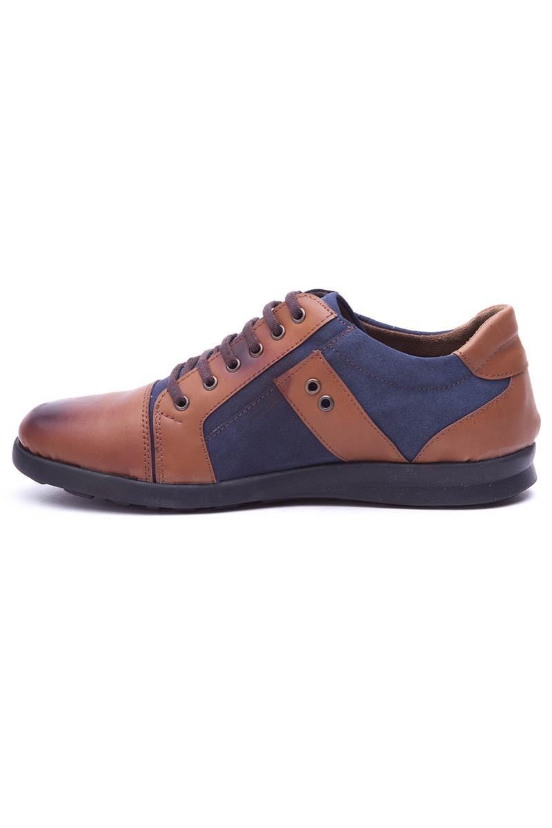 Polomen Taba-Lacivert PLM-1100 Erkek Ayakkabı
