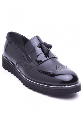 Wenetti Siyah WNT-1999 Hakiki Deri Erkek Ayakkabı