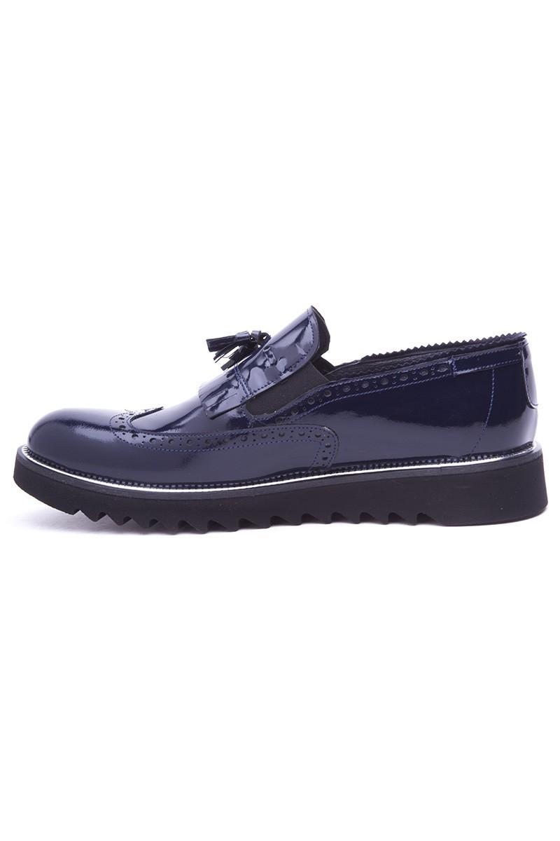 Wenetti Lacivert WNT-1999 Hakiki Deri Erkek Ayakkabı