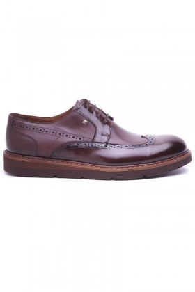 Wenetti Kahverengi WNT-2000 Hakiki Deri Erkek Ayakkabı