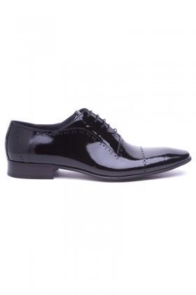 Wenetti Siyah WNT-222 Hakiki Deri Klasik Erkek Ayakkabı
