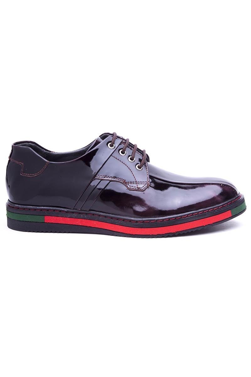 BLUESOIL Bordo BS-20-22-ACMA Hakiki Deri Erkek Ayakkabı